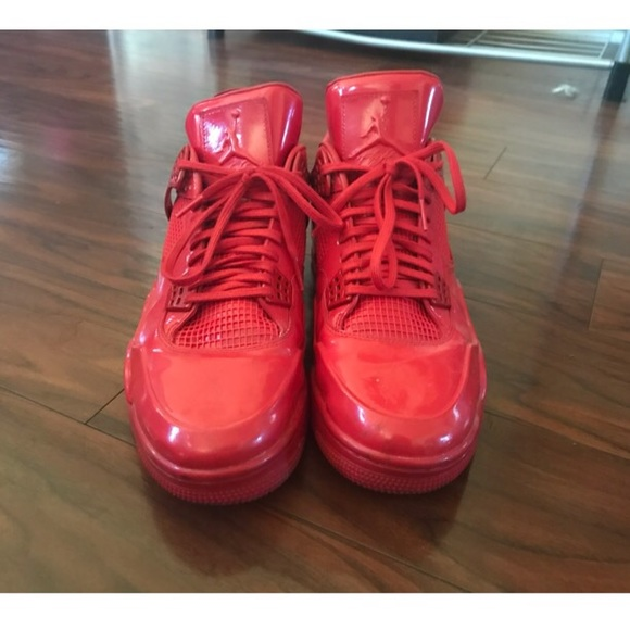 Jordan 4s 1lab4 All Red Patent Leather